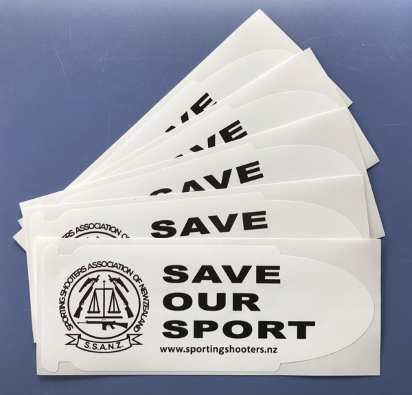 Save Our Sport stickers